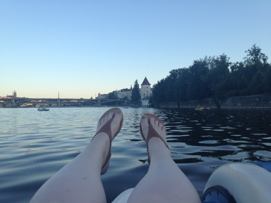 Paddleboat in Prague